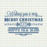 Invito di nuovo anno Decorazione variopinta di festa iscrizione Fotografia Stock Libera da Diritti