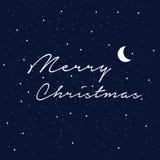 Invito di nuovo anno Illustrazione astratta di saluto con le stelle bianche Fotografie Stock Libere da Diritti