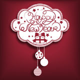 Invito di nuovo anno Rosso Immagini Stock Libere da Diritti