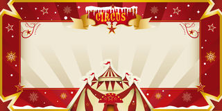 Invito fantastico del circo di natale. Fotografie Stock Libere da Diritti