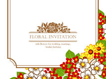 Invito floreale romantico Immagini Stock