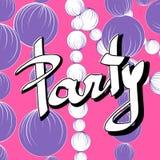 Invito per il partito con le perle Royalty Illustrazione gratis