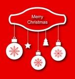 Invito semplice di Natale con tradizionale Fotografia Stock