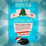 Invito sveglio del partito di Buon Natale retro royalty illustrazione gratis