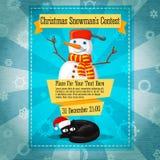 Invito sveglio di concorso di Buon Natale retro o illustrazione vettoriale
