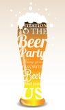 Invito tipografico al partito della birra Fotografie Stock