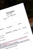 Invoice Royalty Free Stock Image