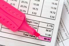 Invoice balance Stock Photos