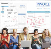 Invoice Bill Paid Payment Financial Account Concept Stock Image