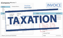 Invoice Bill Paid Payment Financial Taxation Concept. Invoice Bill Paid Payment Concept Stock Photography