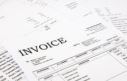 Invoice and bills Stock Photos