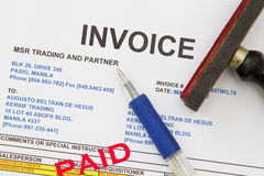 Invoice Stock Photo
