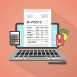 Invoice concept illustration. Stock Images