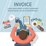 Invoice concept vector Royalty Free Stock Photography