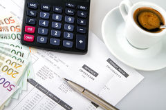 Invoice and credit note royalty free stock photography