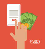 Invoice design. business icon. finance concept Royalty Free Stock Images