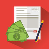 Invoice document and pendesign Stock Images