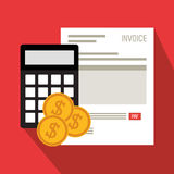 Invoice economy related icons image Royalty Free Stock Image