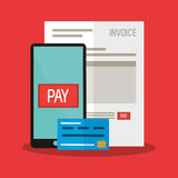 Invoice economy related icons image Stock Photo