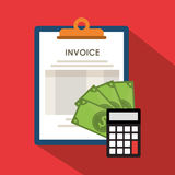 Invoice economy related icons image Royalty Free Stock Photos