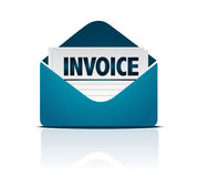 Invoice with envelope. Illustration isolated over white Royalty Free Stock Image