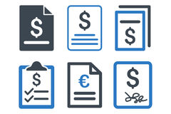 Invoice Flat Vector Icons Royalty Free Stock Images