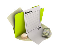 Invoice icon Royalty Free Stock Images