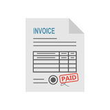 Invoice icon in the flat style, isolated from the white background. Royalty Free Stock Image