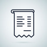 Invoice  icon, illustration symbol. Business icon. Invoice abstract illustration Royalty Free Stock Image