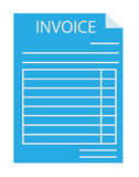 Invoice icon on white background. invoice sign.  invoice symbol. Invoice icon on white background. invoice sign. flat style design. blue invoice Royalty Free Stock Images