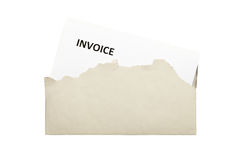 Invoice letter Royalty Free Stock Photography