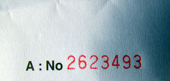 Invoice number Stock Photos