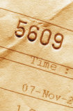 Invoice number Stock Photography