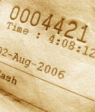 Invoice number. Close-up of invoice number Royalty Free Stock Images