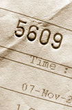 Invoice number. Close-up of invoice number Stock Photography
