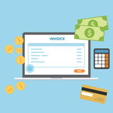Invoice Online stock photography