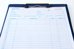 Invoice Pad Royalty Free Stock Photography