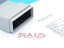 Invoice paid Royalty Free Stock Images
