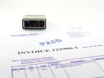 Invoice paid. stock photography