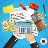 Invoice payment design Royalty Free Stock Photos