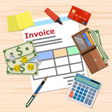 Invoice payment design Stock Image