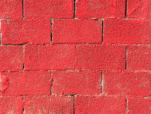 The invoice, red brick wall. Horizontal structure for a background Stock Photos