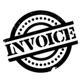 Invoice rubber stamp. Grunge design with dust scratches. Effects can be easily removed for a clean, crisp look. Color is easily changed Stock Image