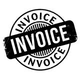 Invoice rubber stamp. Grunge design with dust scratches. Effects can be easily removed for a clean, crisp look. Color is easily changed Stock Photography