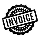 Invoice rubber stamp. Grunge design with dust scratches. Effects can be easily removed for a clean, crisp look. Color is easily changed Stock Photo