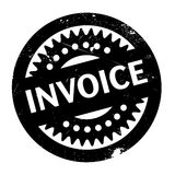 Invoice rubber stamp. Grunge design with dust scratches. Effects can be easily removed for a clean, crisp look. Color is easily changed Royalty Free Stock Images