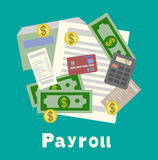 Invoice sheet, paysheet or payroll icon. Calculating and budget account Royalty Free Stock Images