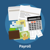 Invoice sheet, paysheet or payroll icon. Calculating and budget account. Vector illustration Royalty Free Stock Photos