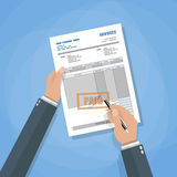 Invoice sign up Royalty Free Stock Images
