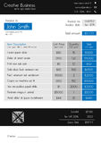 Invoice template - clean modern style of blue and grey Stock Photography